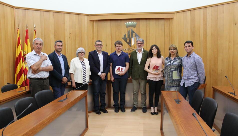 Dos alumnes de l'Institut Joaquín Bau de Tortosa guanyen els XI Premis de Recerca del Baix Ebre