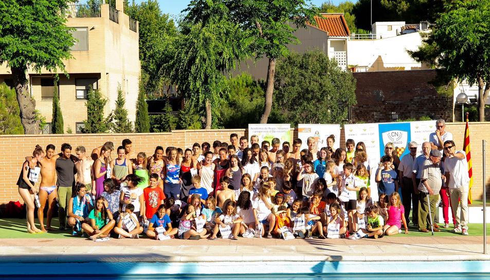 Imatge dels participants a la celebració esportiva.