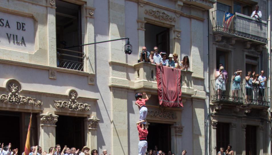 Pilar de 7 amb folre de la Colla Vella de Valls.