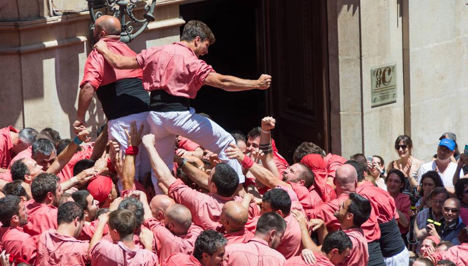 Celebració dels castellers de la Colla Vella.