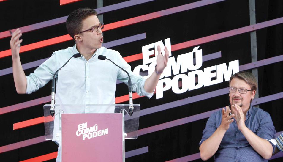 Errejón valora negativament els resultats d'Units Podem