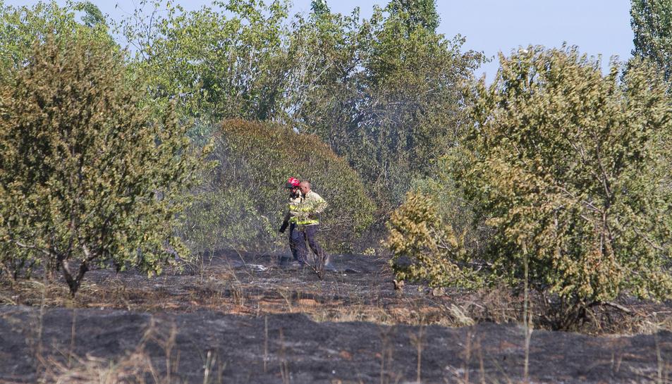 Fa pocs dies el solar a tocar d'Activa Mutua patia un incendi.