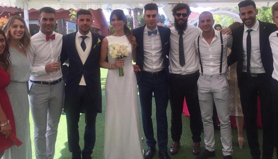 Xavi Molina, feliç per casar-se