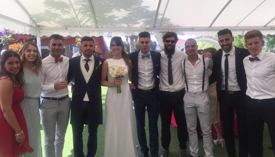 Molina, la núvia i alguns dels convidats