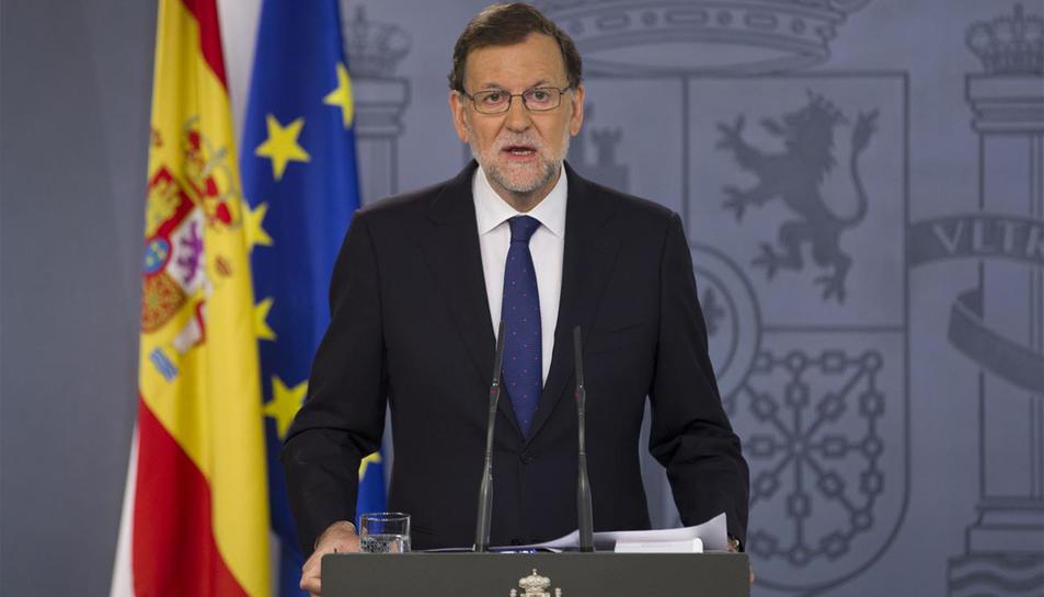 Rajoy: «En aquest partit som espanyols, amb molta honra i molt orgull»