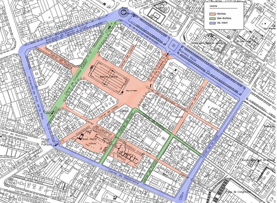 Mapa presentat per CiU en la moció per la creació de l'Illa Corsini'
