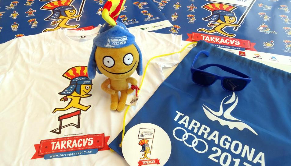 Productes oficials dels Jocs que es podran adquirir al punt d'informació de la Rambla Nova.