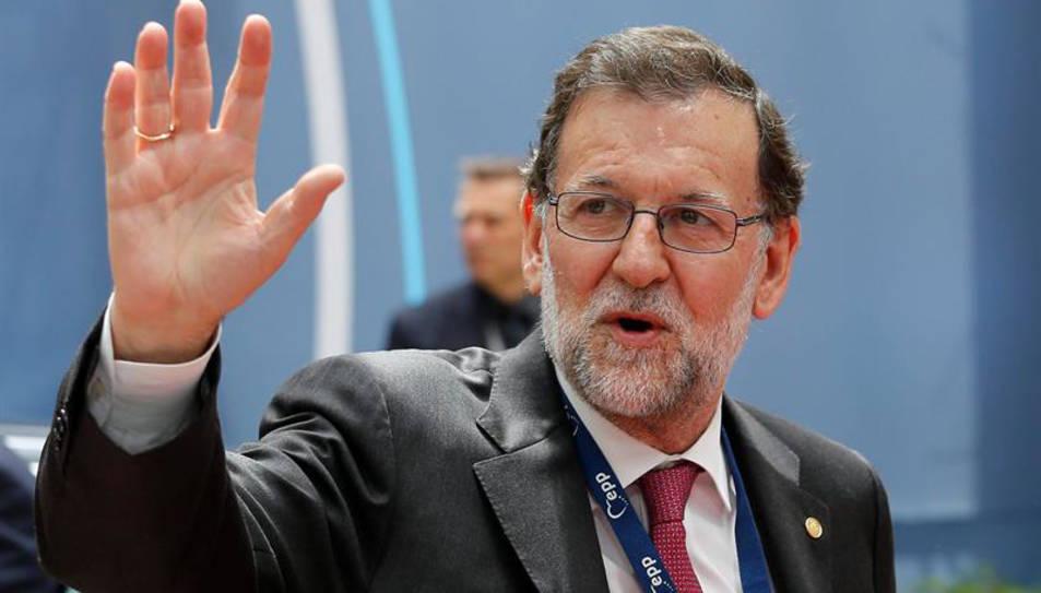El president espanyol en funcions Mariano Rajoy en el moment d'arribar al Consell Europeu celebrat a Brusel·les.