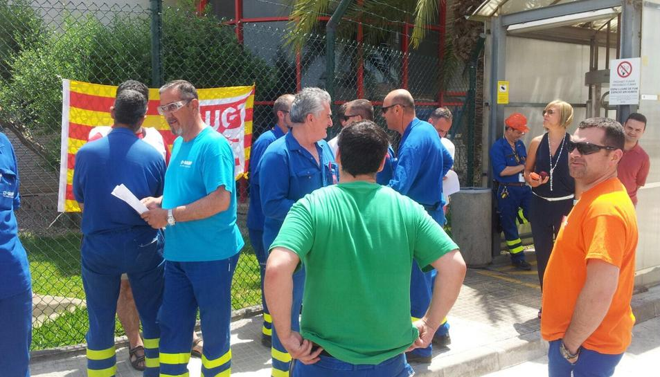Els treballadors van començar les concentracions, aquest dimecres.