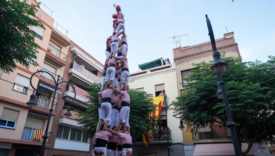 Intent de 4de8 amb el pilar dels Xiquets de Tarragona a la diada de Sant Pere al Serrallo.