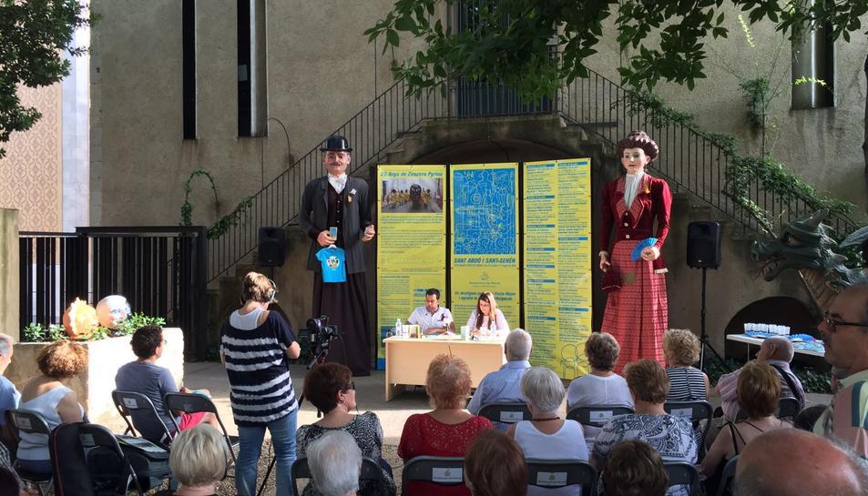 Imatge de la presentació que s'ha fet als jardins de l'Ajuntament.