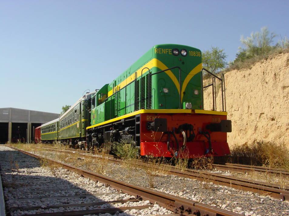 Imatge del tren 'Lo Caspolino' que ha estat restaurant per a fer un recorregut turístic.