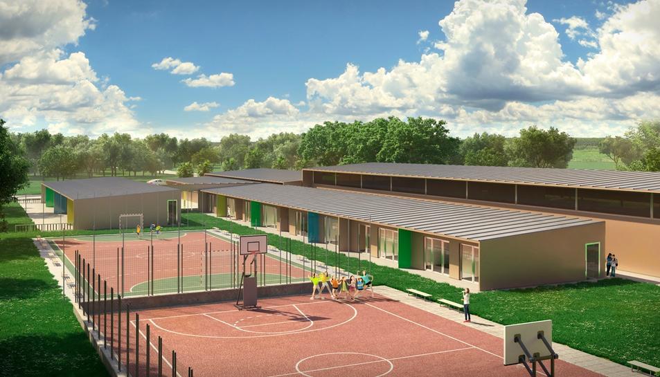 Imatge virtual del projecte del centre al Catllar.
