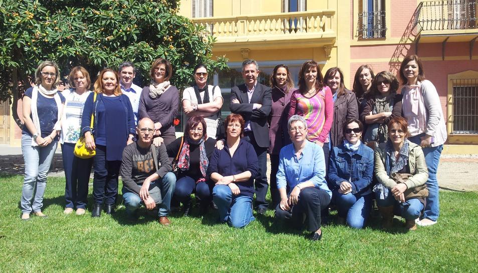 El grup d'investigació del RESET amb el doctor Francisco Martín al centre.