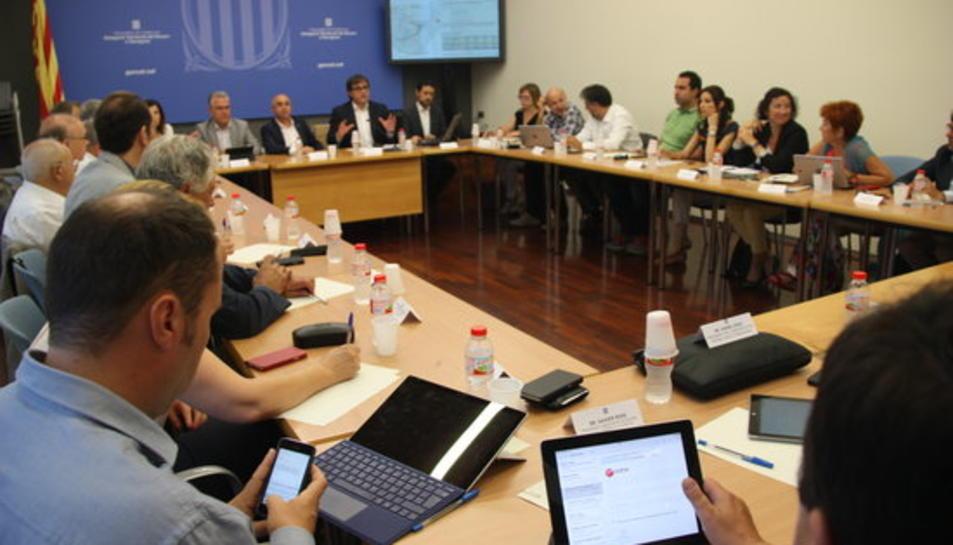 Reunió de la comissió de seguiment del PDU del Centre Recreatiu i Turístic de Vila-seca i Salou.