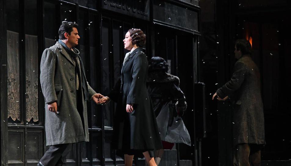 Escena de La Bohème de Giacomo Puccini