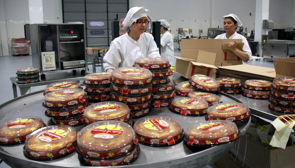 Imatge de la planta de la fàbrica pastissera a Montblanc.
