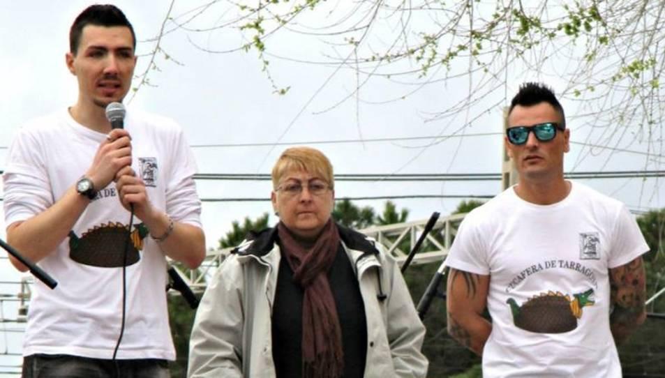 Adrià Recasens, Rosa Puig i Paco Ruiz en  un acte del barri.