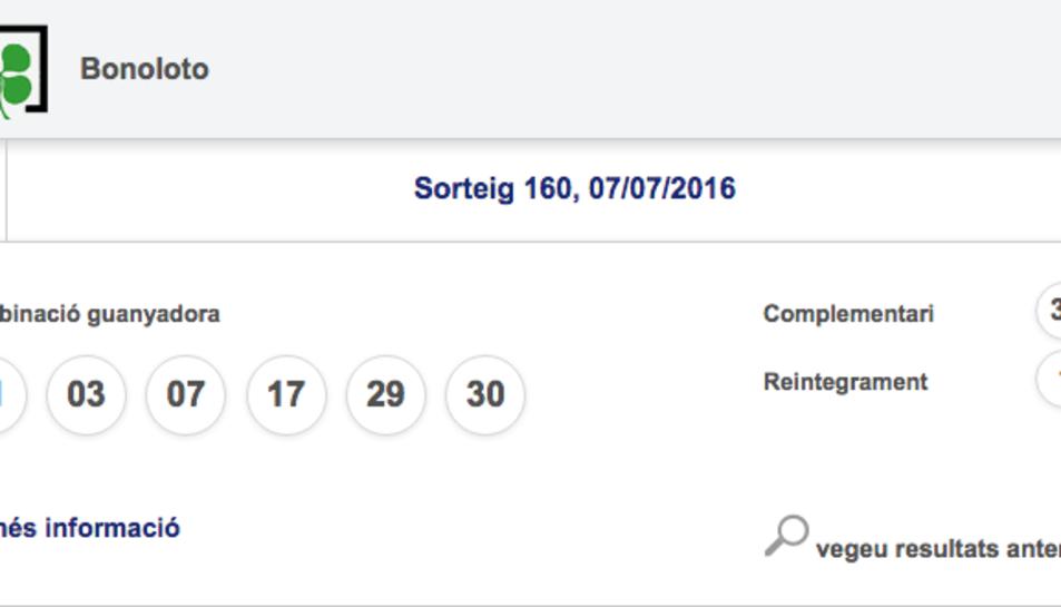 El Vendrell guanya un pot de 1.166.632 euros