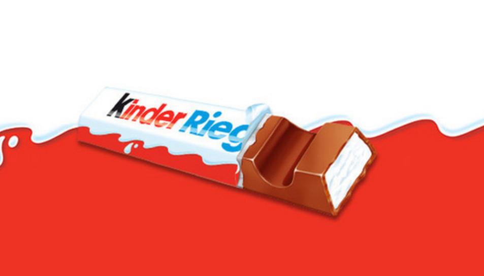 La xocolata Kinder Riegel de la marca italiana Ferrero és una de les perilloses, segons l'empresa alemanya.