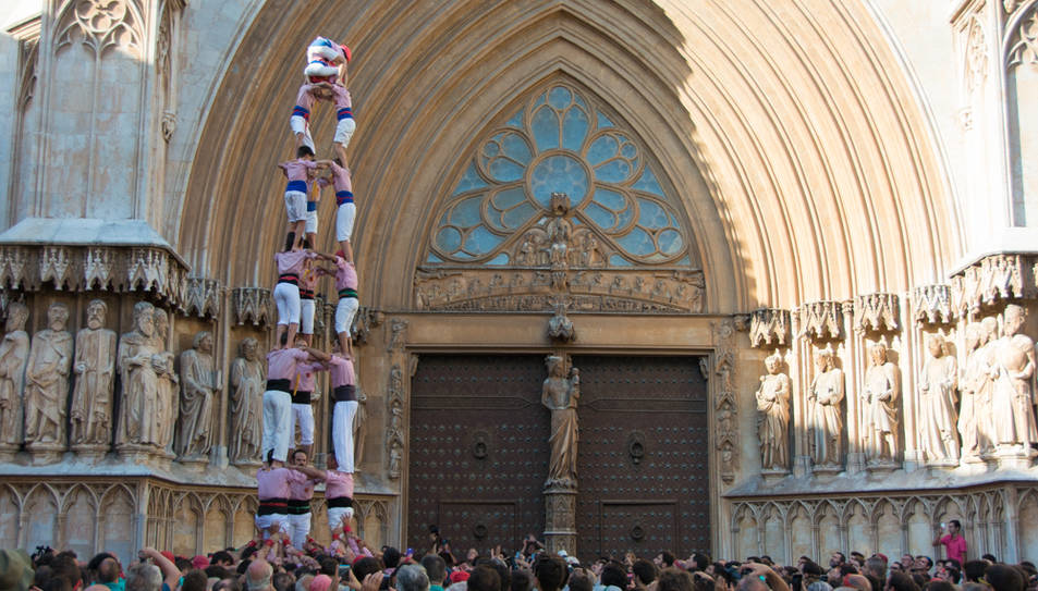 3de8 dels Xiquets de Tarragona a la diada del Pla de la Seu.