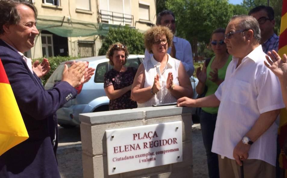 Elena Regidor ja té una plaça al barri de Parc Riu Clar