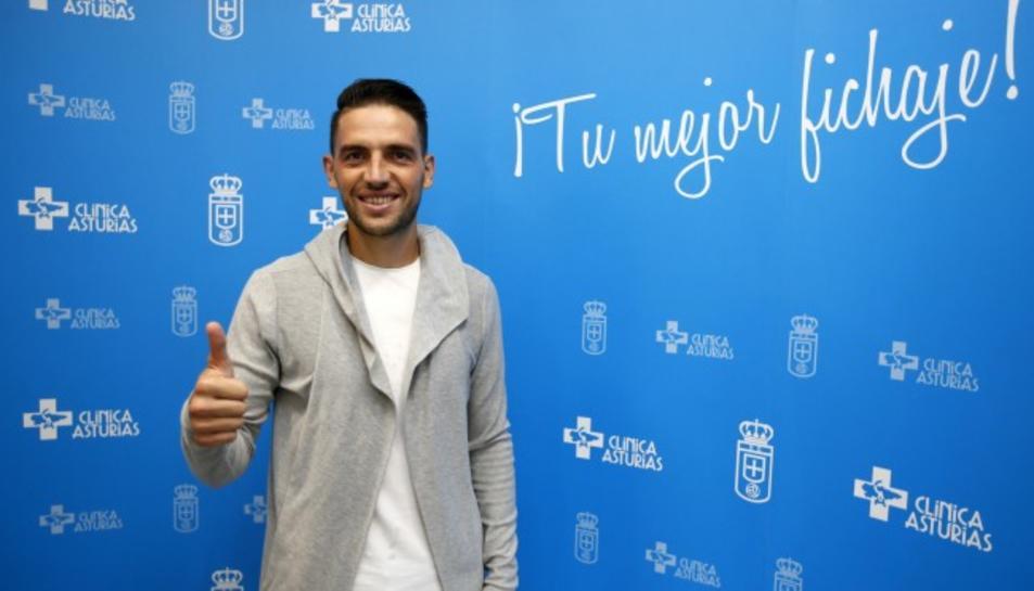 Rocha, a les instal·lacions del Real Oviedo