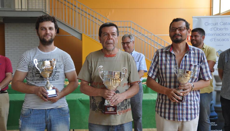 El podi de l'Open Internacional d'Escacs de Torredembarra