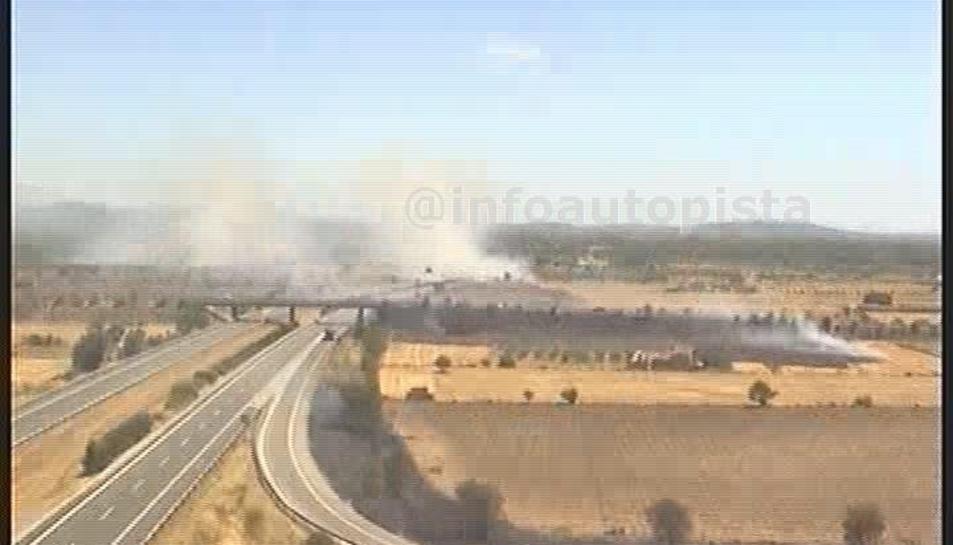Declarat un incendi de matolls al Pla de Santa Maria