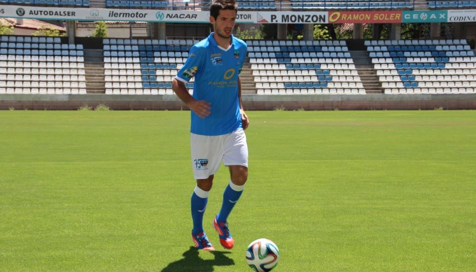Albístegui, amb la samarreta del Lleida Esportiu.