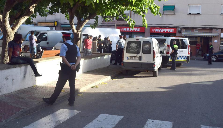 Presència policial a la plaça Catalunya de SPiSP
