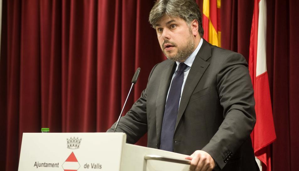 Imatge d'arxiu de l'alcalde de Valls, Albert Batet.