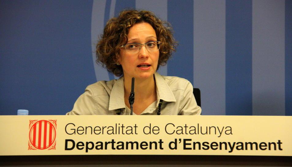 Primer pla de la consellera d'Ensenyament, Meritxell Ruiz.
