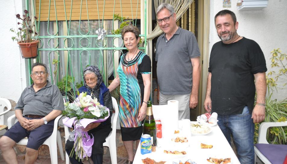 Àvia centenària a Torredembarra