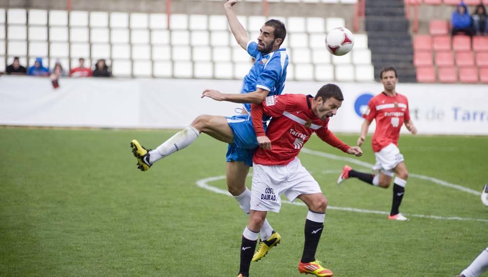 Imatge d'arxiu d'un enfrontament entre el Reus Deportiu i el Nàstic