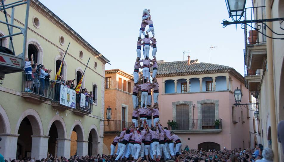 4de9 folrat dels Xiquets de Tarragona a la Diada de les Cultures.