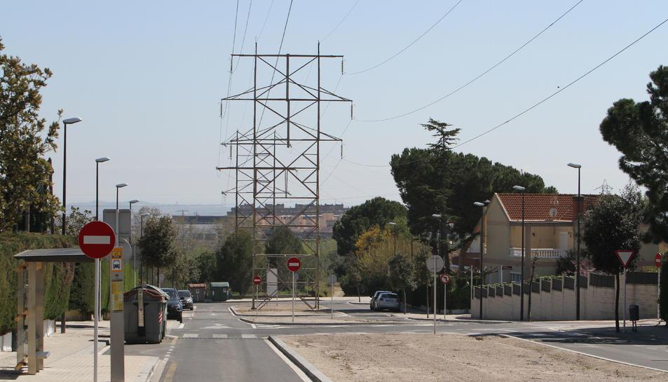 Les torres elèctriques del Pinar no tenen cap protecció.