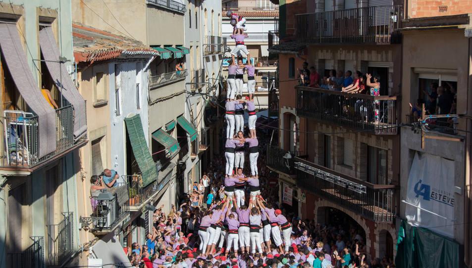 3de9 folrat de la Colla Jove de Tarragona a la Diada del Quadre de Santa Rosalia.