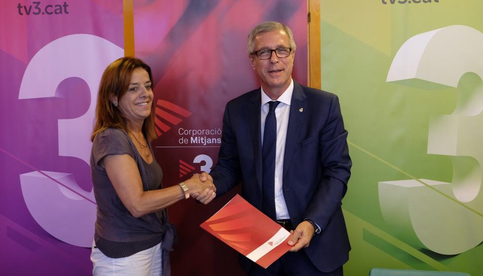 Conveni per a la transmissió dels Jocs Mediterranis entre la Fundació Tarragona 2017 i la CCMA