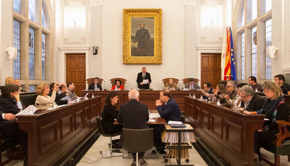 Una imatge d'un dels plens de l'Ajuntament aquest mandat.