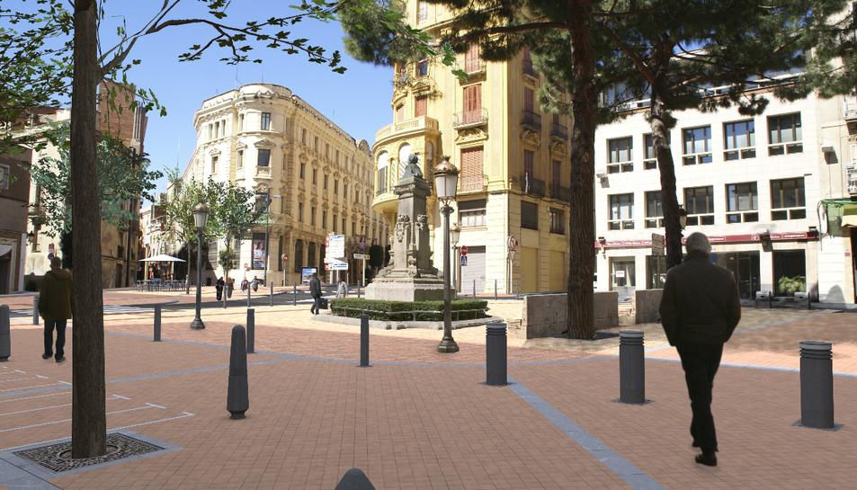 La plaça Catalunya completarà  la reforma a principis del 2017