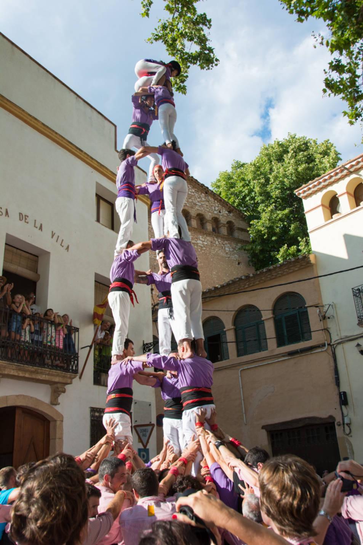 3de7 dels Castellers d'Altafulla a la diada de festa major de La Riera.