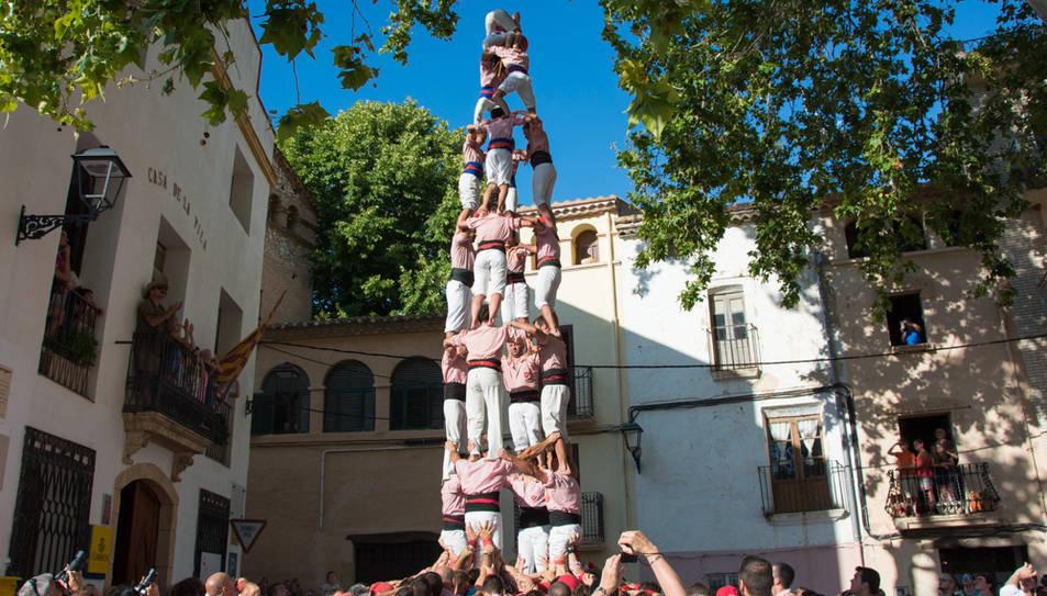 4de8 dels Xiquets de Tarragona a la diada de festa major de La Riera.