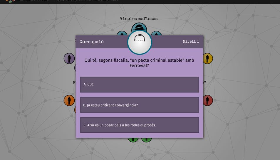 La CUP estrena un joc online sobre la corrupció