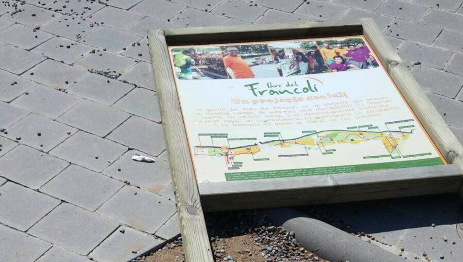 Causen destrosses a la zona de bar del Parc Francolí