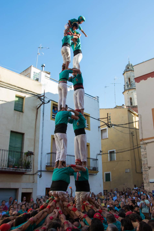 2de7 dels Castellers de Sant Pere i Sant Pau a la diada del Catllar.