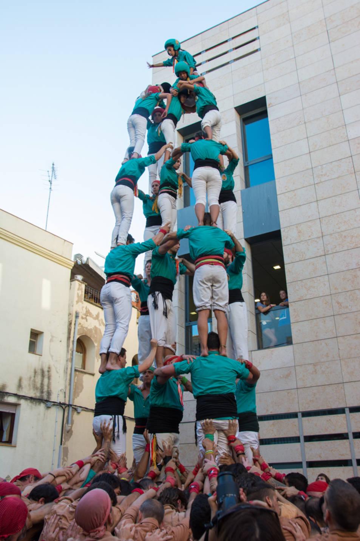 5de7 dels Castellers de Sant Pere i Sant Pau a la diada del Catllar.