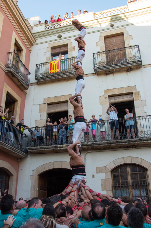 Pilar de 6 dels Xiquets de Reus a la diada del Catllar.
