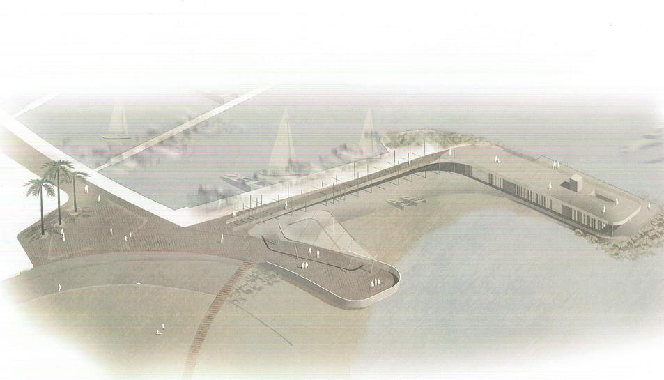 Imatge del projecte corresponent a l'escola de vela.