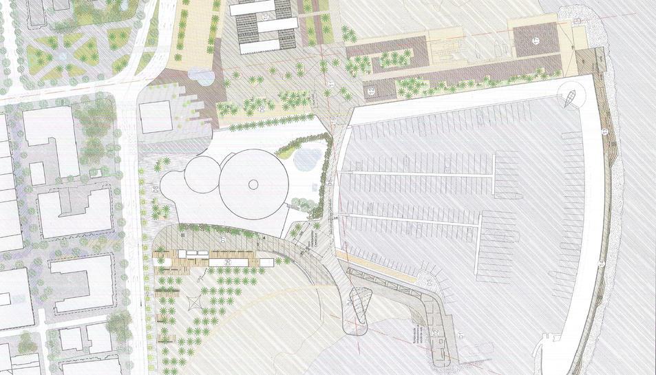 Imatge de la planta del projecte del nou port esportiu.